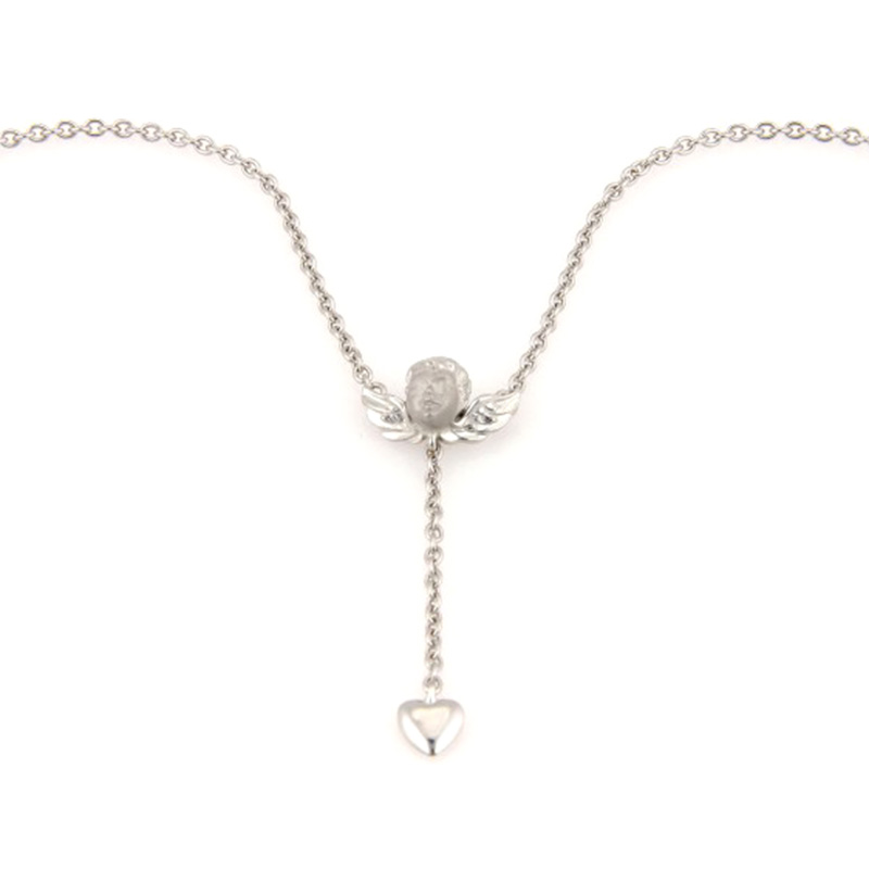"Image of ""Carrera y Carrera 18K White Gold Angel Heart Pendant Necklace"""