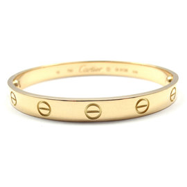 Cartier Love Bracelet Yellow Gold Size 16