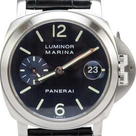 Panerai Luminor Marina 40mm Automatic Dive Watch Blue Dial PAM 69