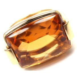 Bvlgari Bvlgari 18K Yellow Gold Green Citrine Ring