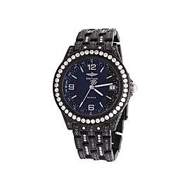 Breitling Chronometre Wings Automatic Black Pvd Diamond Unisex 38 Mm Watch