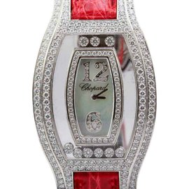 Chopard Happy Diamonds 18K White Gold Floating Diamond 4528 1 32mm Watch