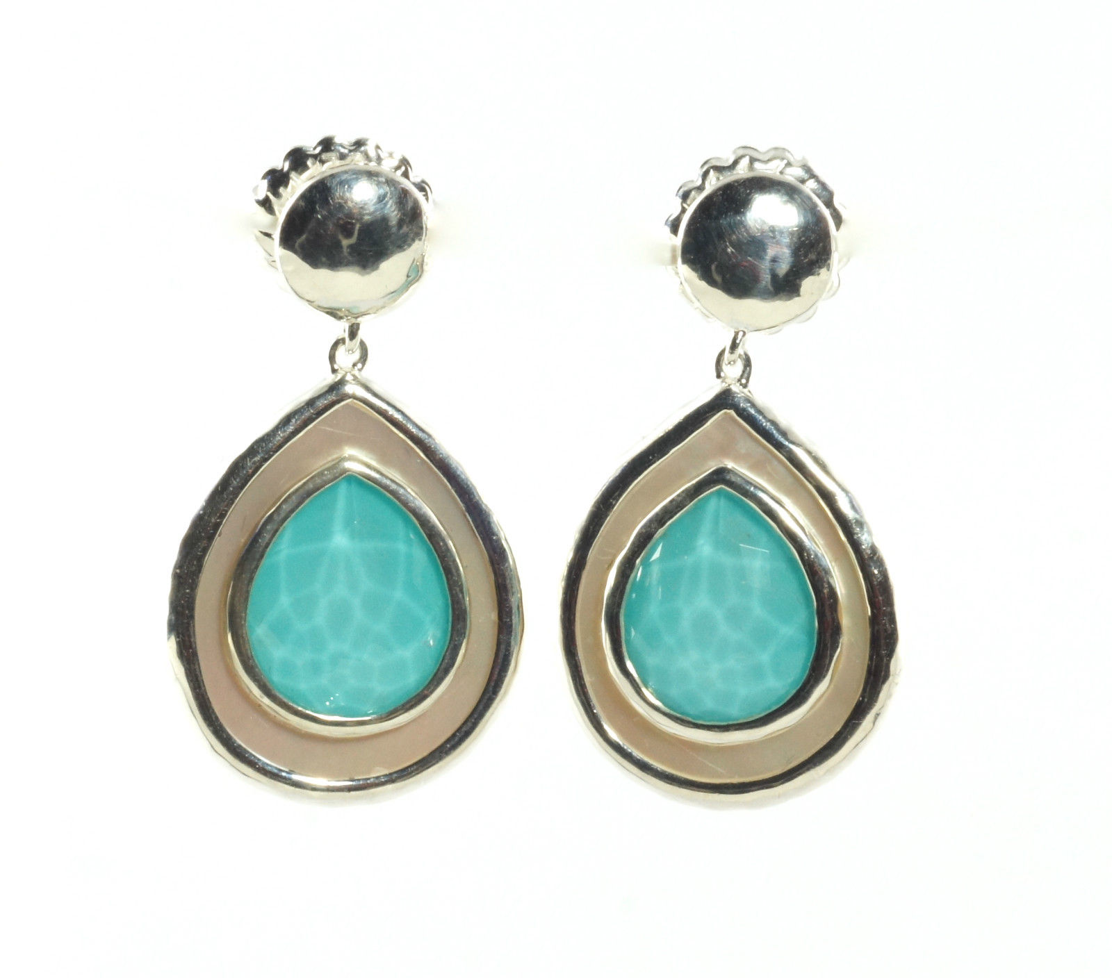 "Image of ""Ippolita Sterling Silver Turquoise Mother of Pearl Rock Candy Teardrop"""