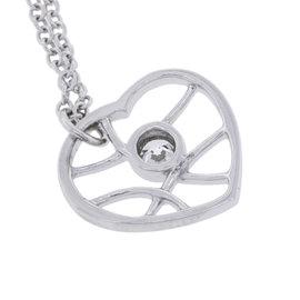 Hearts on Fire Brocade Heart 18K Gold Single Diamond Women's Pendant Necklace
