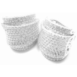 Pasquale Bruni 18K White Gold Diamond Earrings