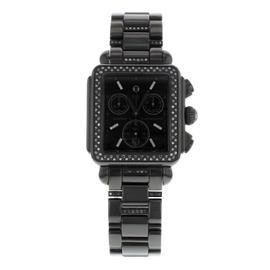Michele Deco MWW06A000774 Steel PVD Coated & Black Diamonds Quartz Ladies Watch