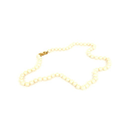 Mikimoto 18k Yellow Gold 6mm Pearl Necklace