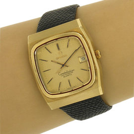 Omega Vintage 14k Yellow Gold Constellation Chronometer Date Men's Watch