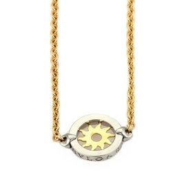 Bulgari Bvlgari Tondo Sun Sautoir 18k Yellow Gold & Stainless Steel Long Necklace