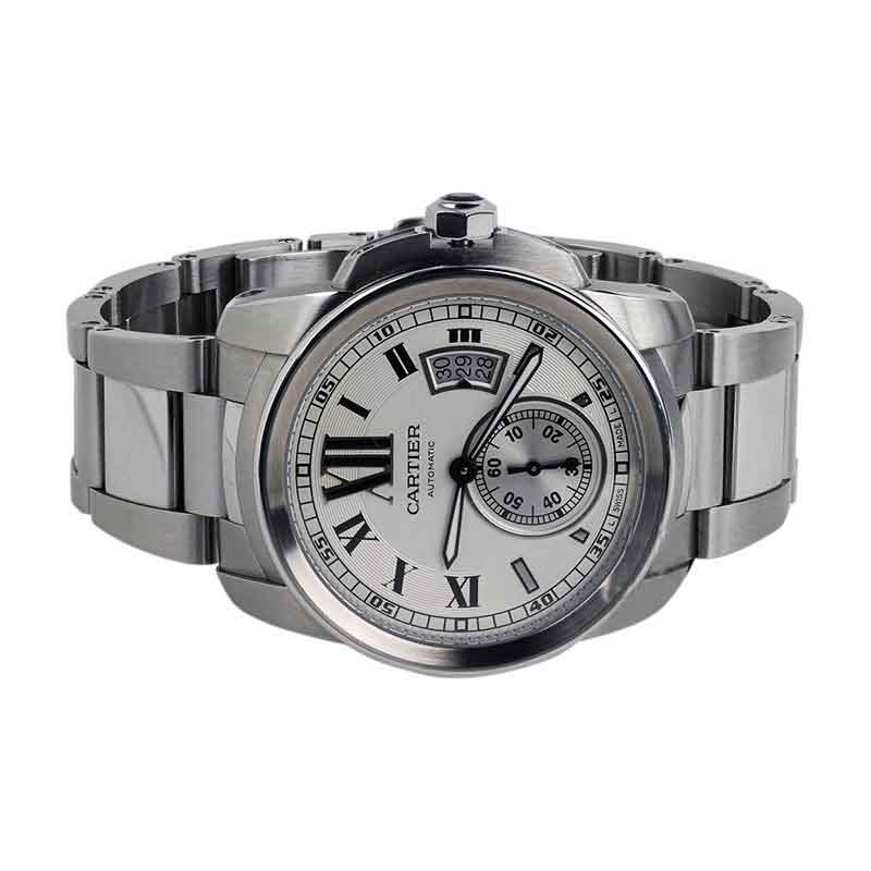 "Image of ""Calibre de Cartier Silver Dial Stainless Steel Automatic Skeleton"""