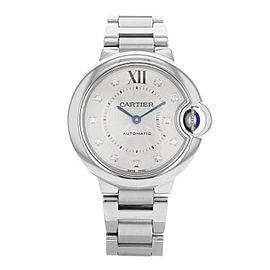 Cartier Ballon Bleu WE902074 Steel & Diamonds Automatic Ladies Watch