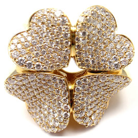 Pasquale Bruni 4Love 18K Yellow Gold Four-leaf-Clover Diamond Ring