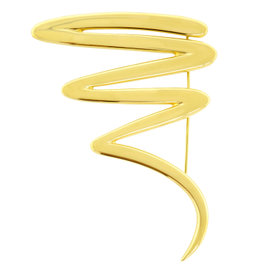 Tiffany & Co. Paloma Picasso 18K Yellow Gold Large Scribble Brooch