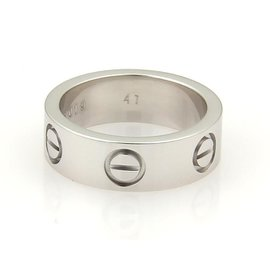 Cartier Love 18K White Gold Band Ring Size 4
