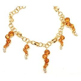 Pasquale Bruni 18K Yellow Gold Ray Sun Citrine Diamond Bracelet