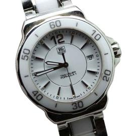Tag Heuer Formula One WAH1211 Ceramic Quartz White Dial Watch