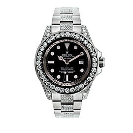 Rolex Sea Dweller 116660 Diamond Bezel Lugs and Bracelet Watch