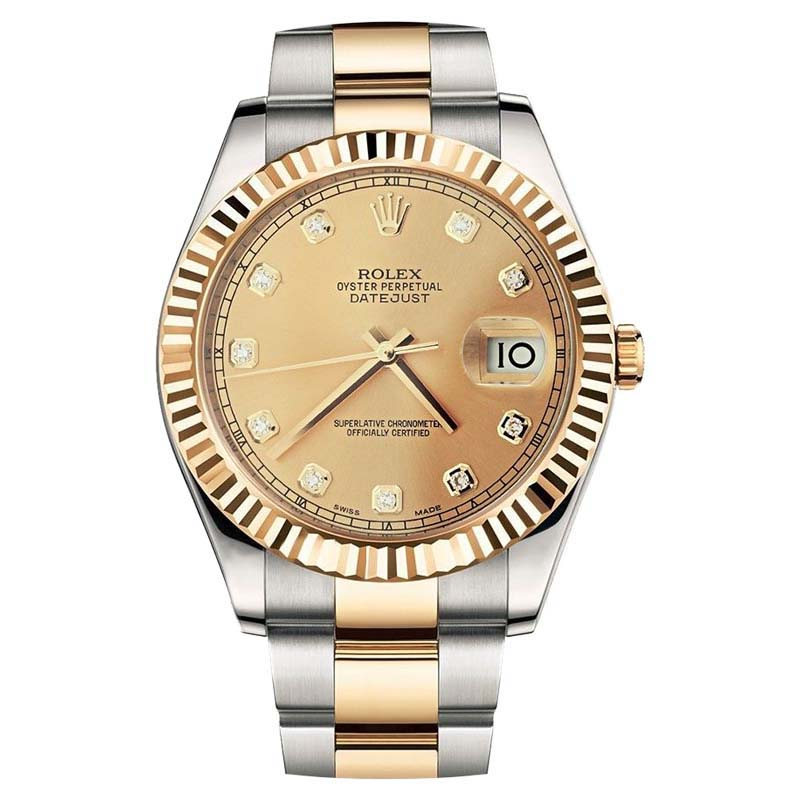 "Image of ""Rolex DateJust II 116333 18K Yellow Gold Steel and Mens Watch 41mm"""