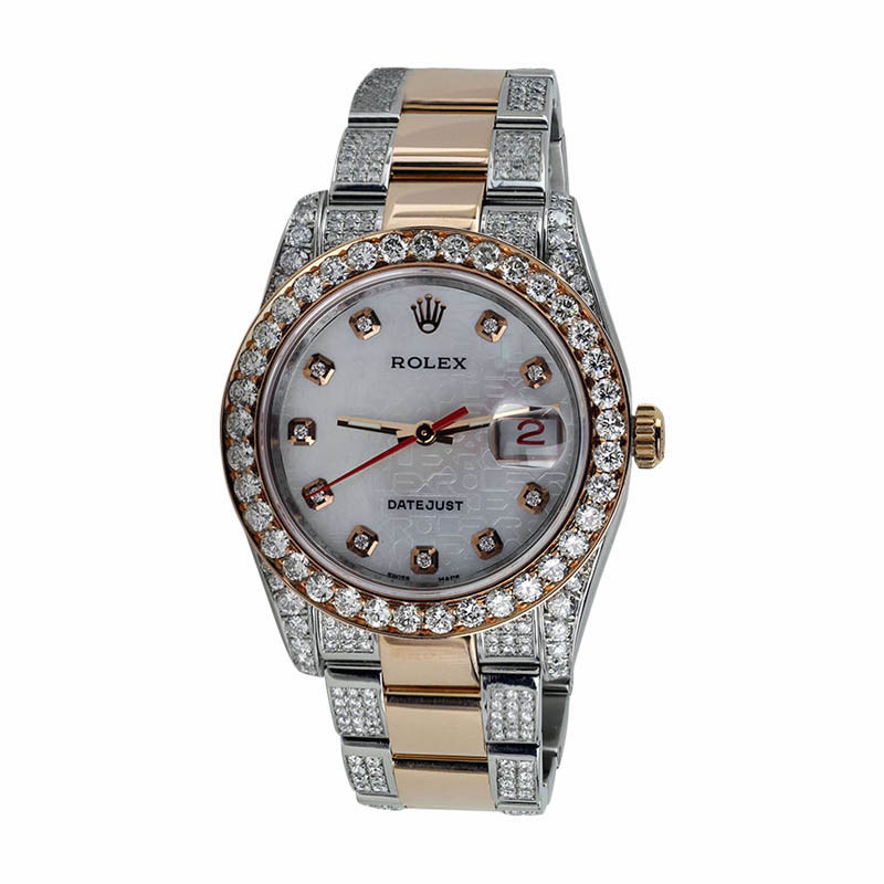 "Image of ""Rolex Explorer II 16570 White Dial Diamond Bezel 40mm Stainless Steel"""