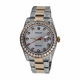Rolex Explorer II 16570 White Dial Diamond Bezel 40mm Stainless Steel Watch