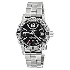 Breitling Colt 33mm Black Dial A7738711 Diamond Bezel Watch
