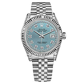 Rolex Datejust Ice Blue String Diamond Accent Dial Woman's Watch 26mm