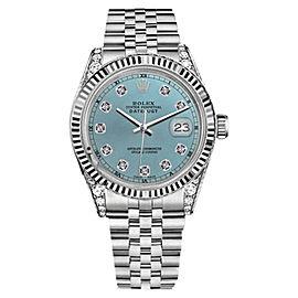 Rolex Datejust Ice Blue Color Dial Diamond Accent RT Men's Watch 36mm