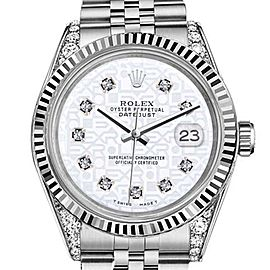 Rolex Datejust White Color Jubilee Dial with Diamonds 26mm Woman's Watch