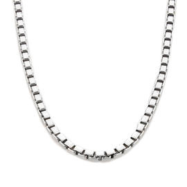 Chopard 18K White Gold Heavy Box Link Chain Necklace
