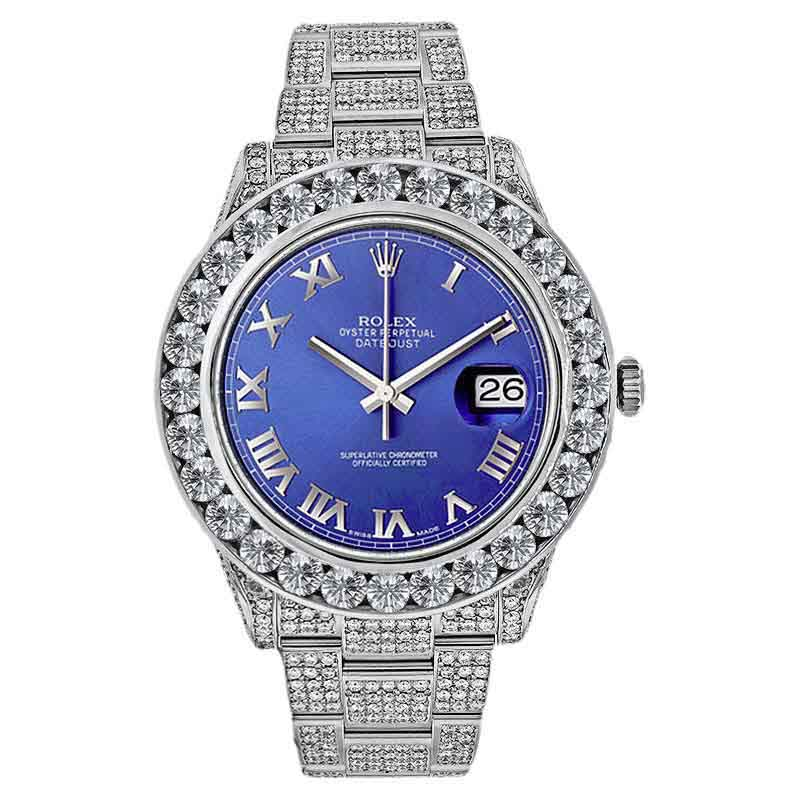 "Image of ""Rolex 116300 Datejust 2 Stainless Steel 30 ct Of Diamonds 41mm Watch"""