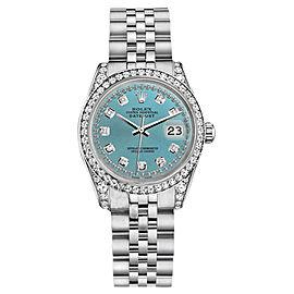 Rolex Datejust Ice Blue Color diamond dial Jubilee Bracelet Womens Watch 26mm