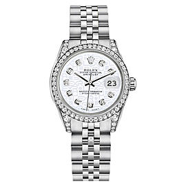 Rolex Datejust Stainless Steel White Color Jubilee Diamond Womens 26mm Watch