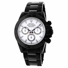 Rolex Daytona 116520 Black PVD White Dial Oyster Bracelet 40mm Watch