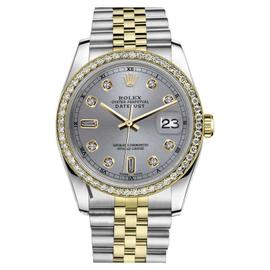 Rolex Datejust Stainless Steel 18K Yellow Gold and Diamond 31mm Watch