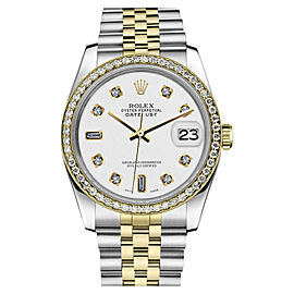 Rolex Datejust Two Tone White Color Dial with 8+2 Diamond Accent 26mm Watch