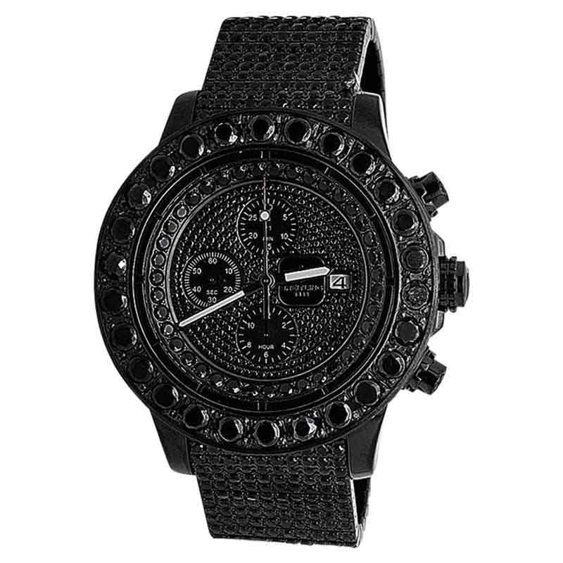 "Image of ""Breitling A13370 Super Avenger XL PVD Steel Black 35ct. Diamond Mens"""