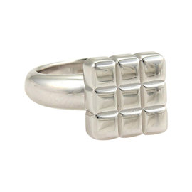 Chopard 18K White Gold Square Shape Cube Top Ring