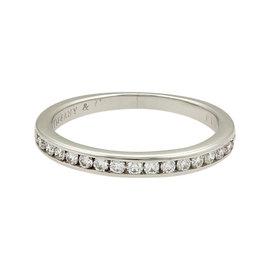 Tiffany & Co. Half Circle Diamonds Platinum Band Ring