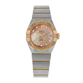 Omega Constellation 123.20.27.20.57.001 Steel & 18K Rose Gold Automatic Watch