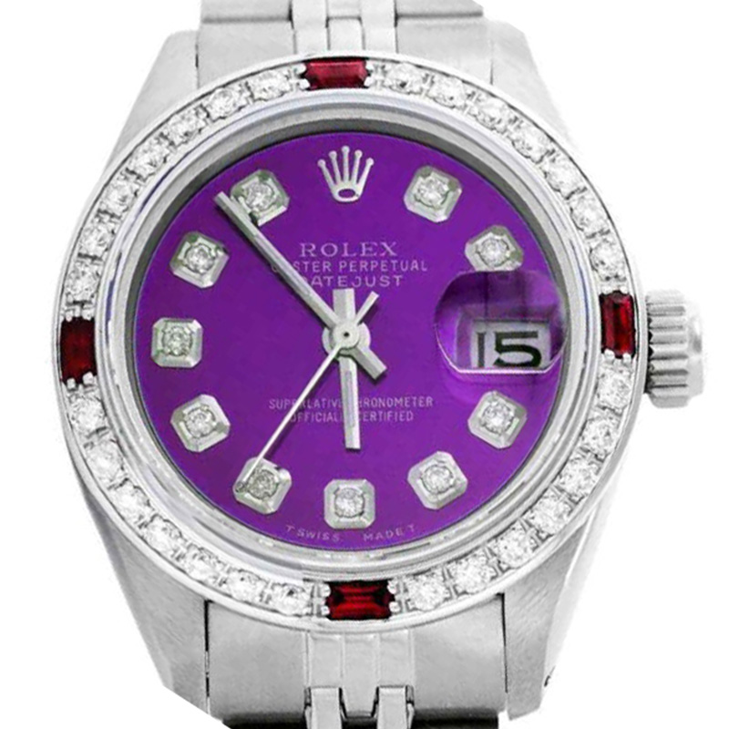 """Image of """"Rolex Datejust Oyster Perpetual Stainless Steel/18K White Gold Purple"""""""