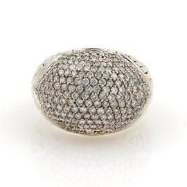 John Hardy 18K Yellow Gold & Silver Diamonds Dome Ring