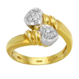 Salvini 18K Yellow & White Gold 0.11ct. Diamonds Ring