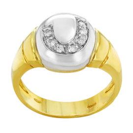Salvini 18K Yellow & White Gold 0.09ct. Diamonds Ring
