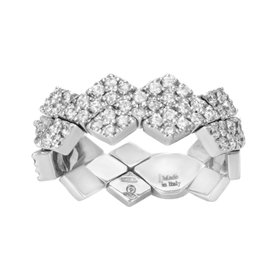 Salvini 18K White Gold & 1.25ct. Diamonds Rhombus Ring