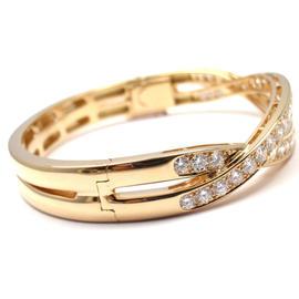 Van Cleef & Arpels 18K Yellow Gold Diamond Bangle Bracelet