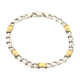 Tiffany & Co. 18K Yellow Gold and 925 Sterling Silver Curb Link Bracelet