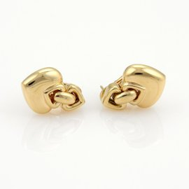 Bulgari 18K Yellow Gold Hearts Drop Earrings