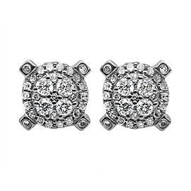 10K Yellow Gold and 0.65ct Diamond Cluster Stud Earrings