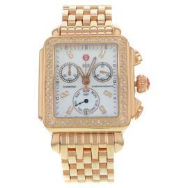 Michele Deco MWW06P000109 18K Rose Gold Plated Steel Quartz Womens Watch