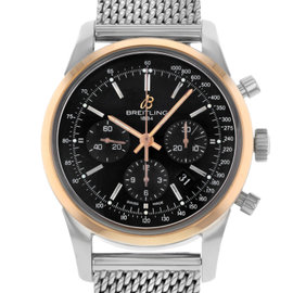 Breitling Transocean UB015212/BC74-154A Steel & Rose Gold Automatic Men's Watch